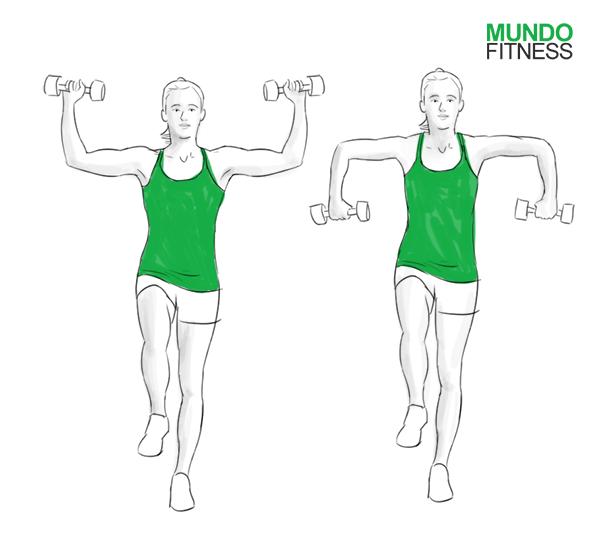 Rotación externa de hombros a una pierna