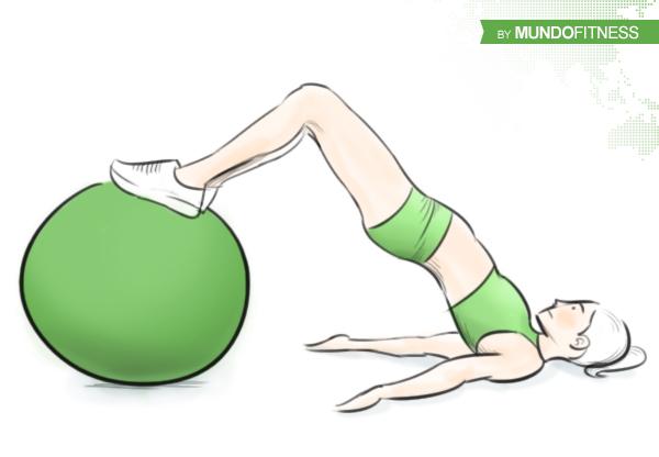 Elevación de caderas con Fitball