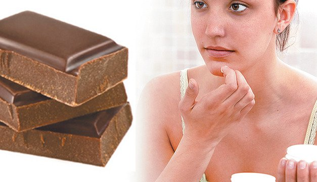 chocolate y la piel