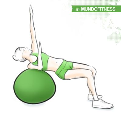 Ejercicios abdominales con fitball
