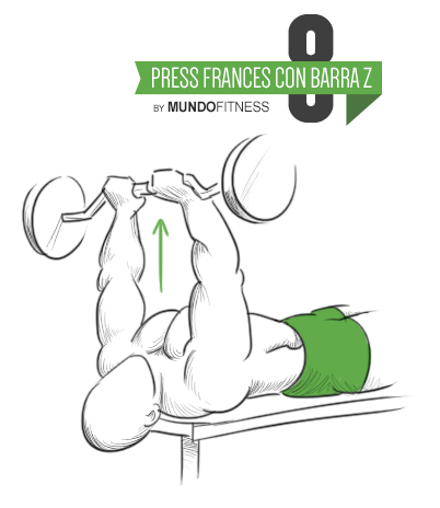 Press francés con barra z old school