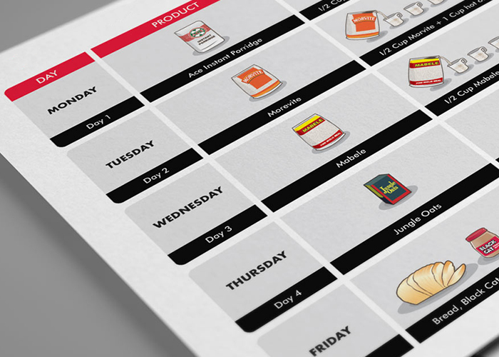 Calendario comidas