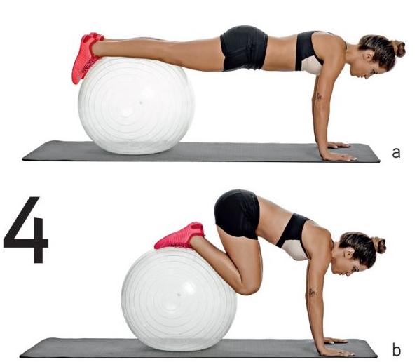 abdominales con fittball