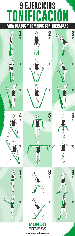 Circuito Quemagrasas : 9 ejercicios para brazos con banda elástica mundo fitness