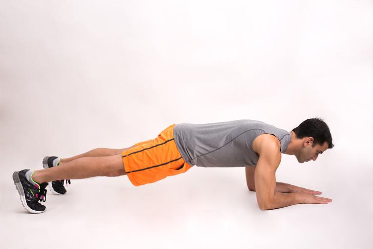 plank isometrico con antebrazos