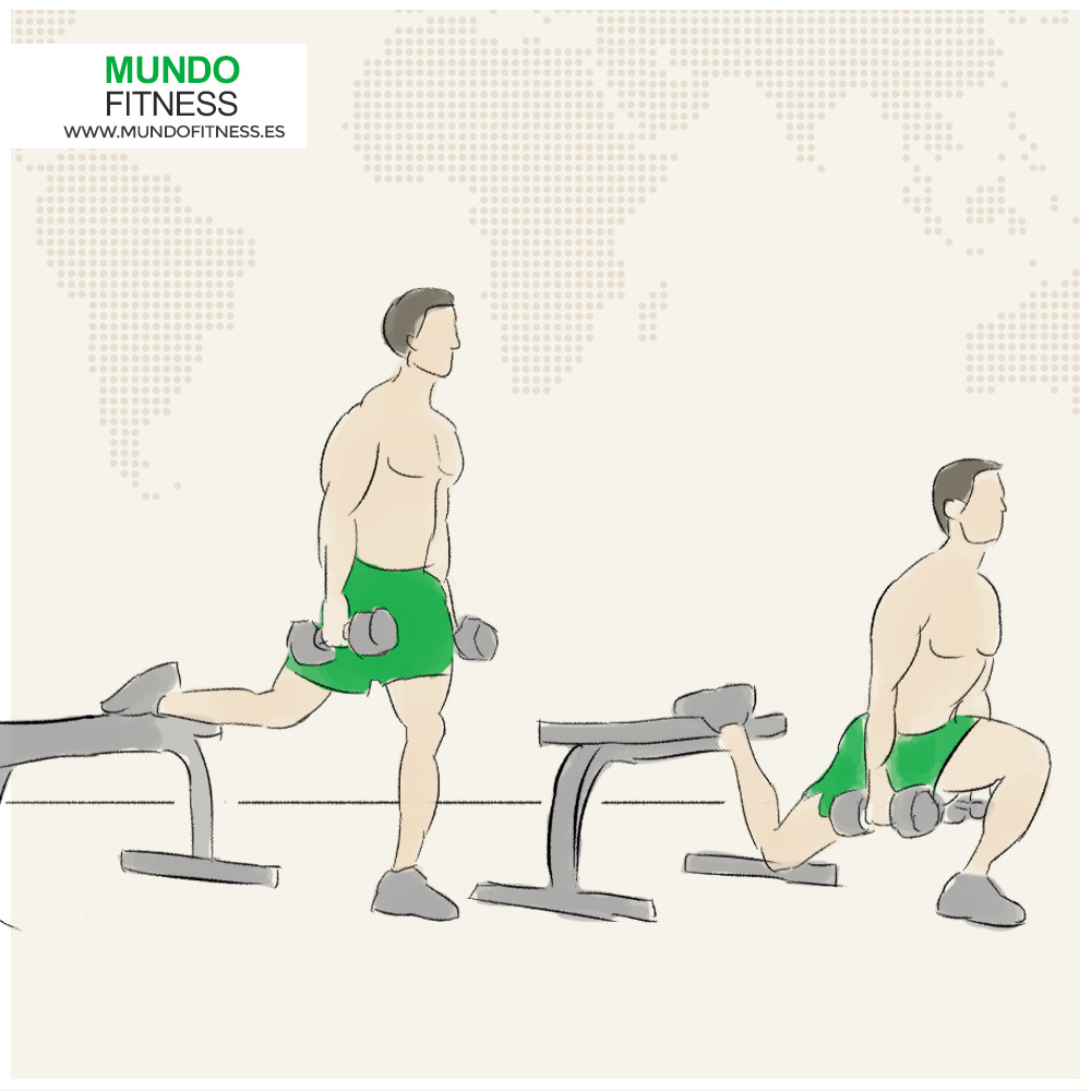 Ejercicio Fitness Barra bulgara