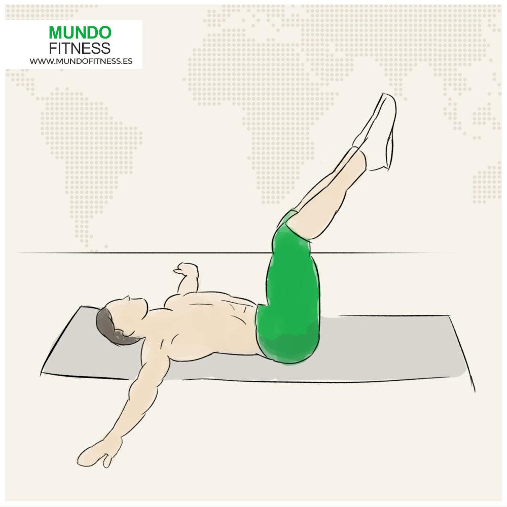 Elevacion de piernas para construir abdominales