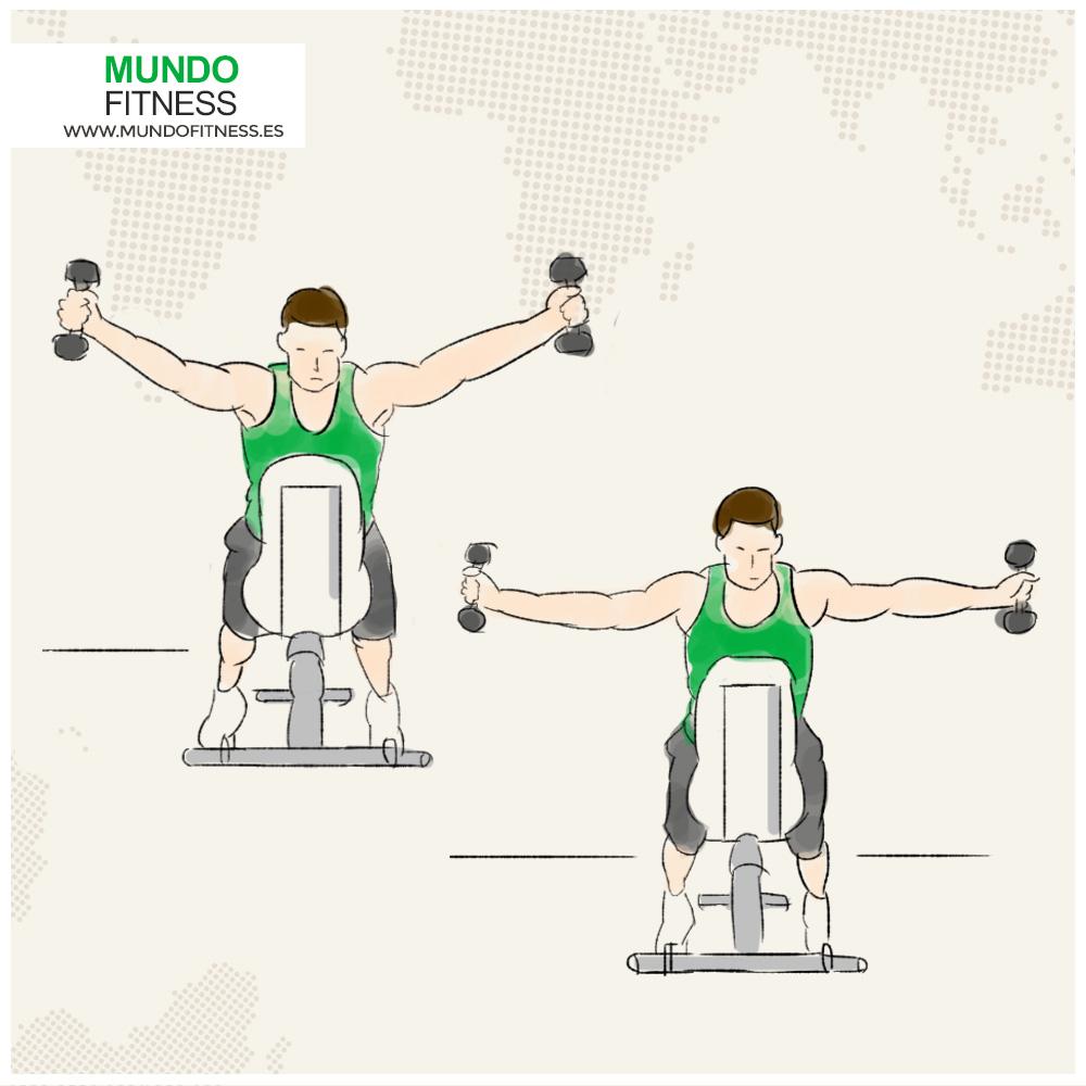 Infografía ejercicios hombros en forma de Y y T