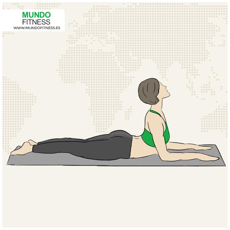 Infografía Postura yoga esfinge