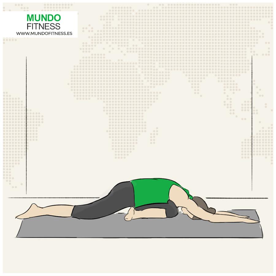 Ilustración de la postura yoga paloma