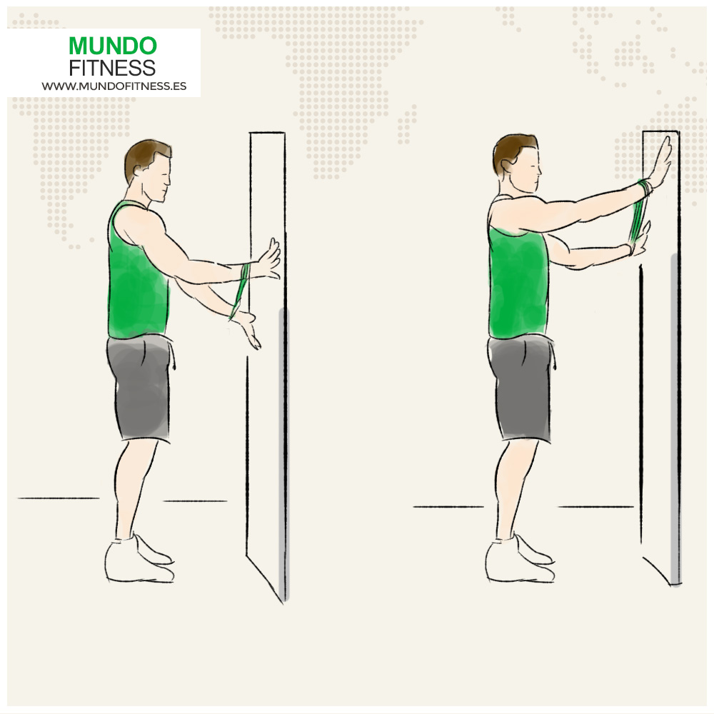 Infografia ejercicio de hombros spider crawl