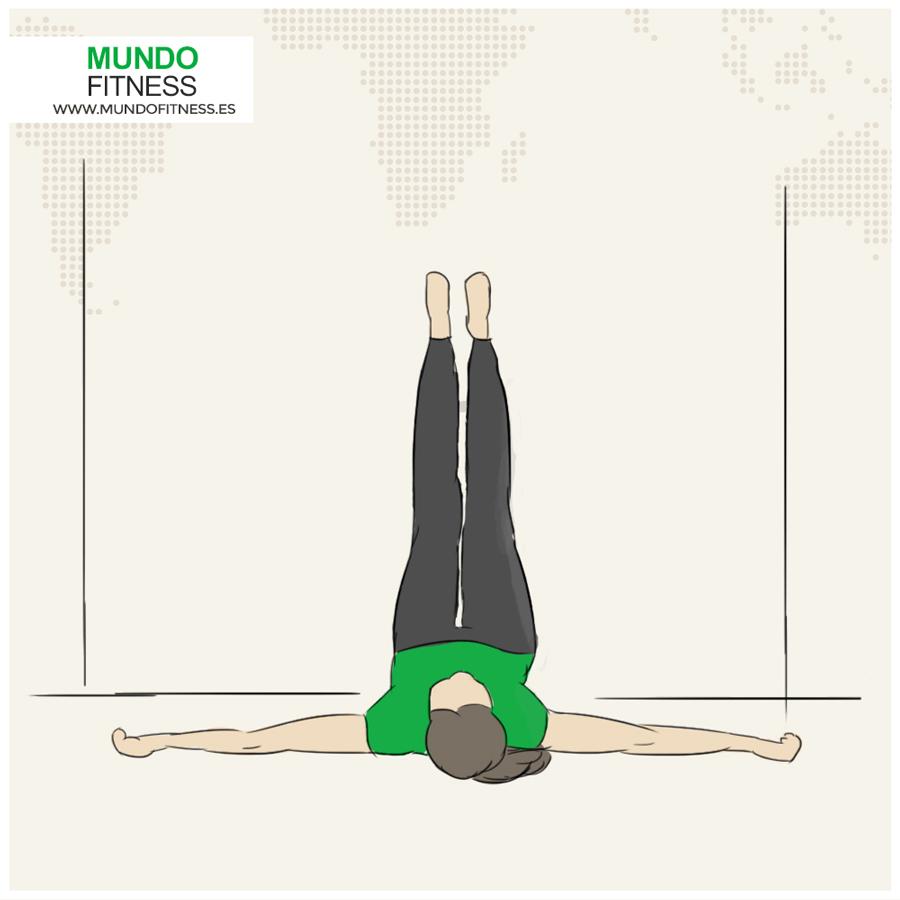 Infografia de la postura yoga Piernas sobre la pared