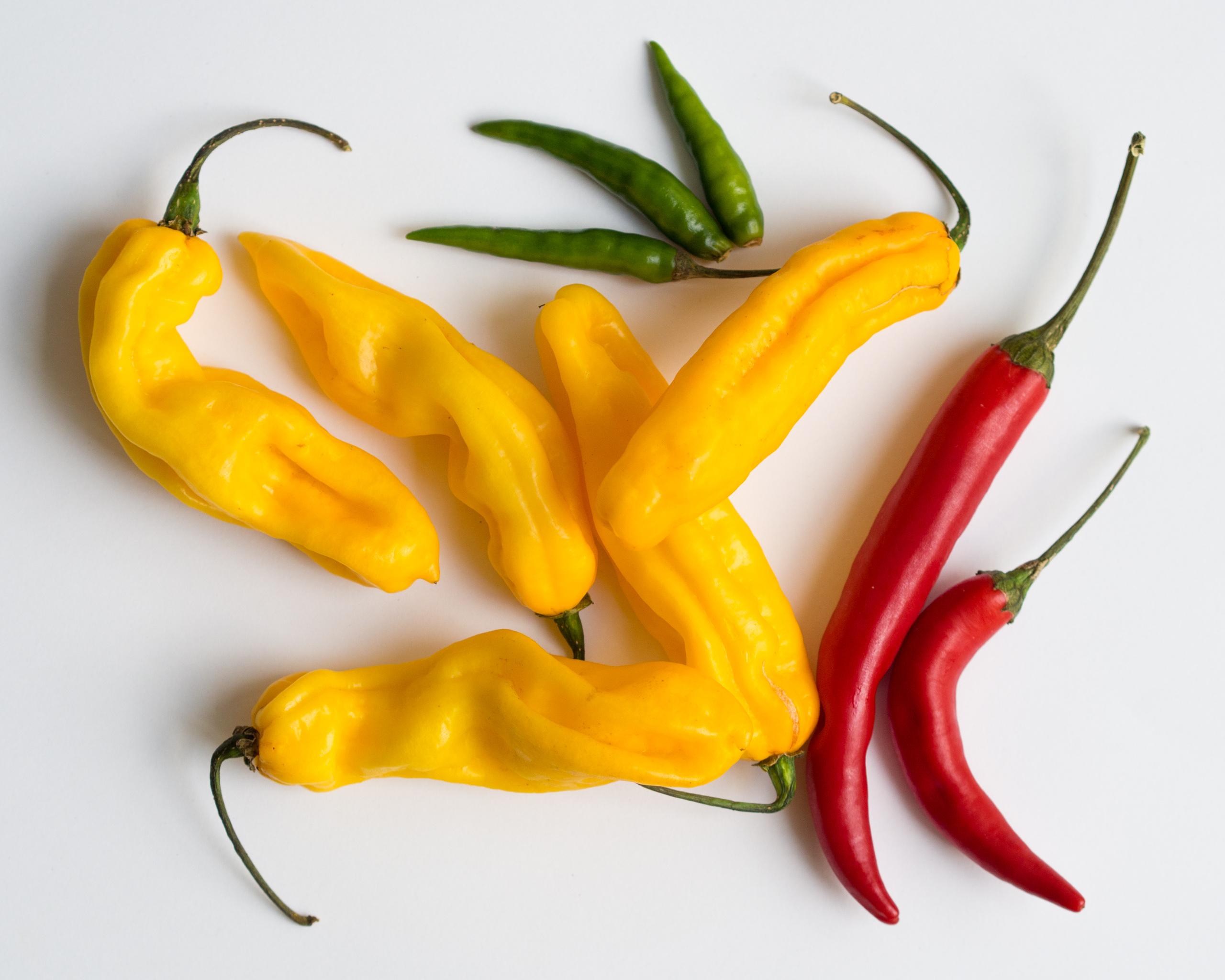 Foto de chilis, un alimento muy picante