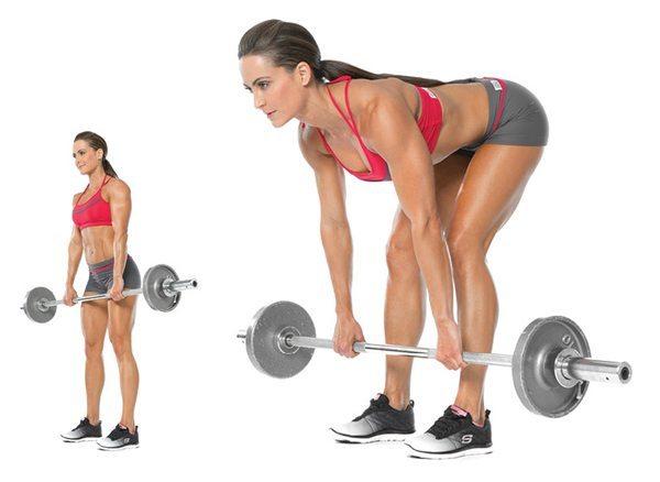 peso-muerto-sentadillas-levantar peso-entrenamiento para chicas