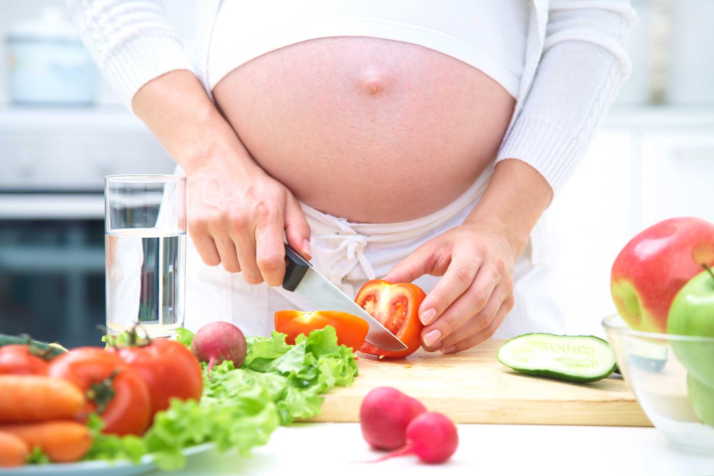 alimentación correcta del embarazo