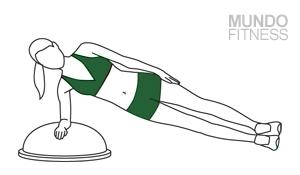 Plancha lateral con BOSU