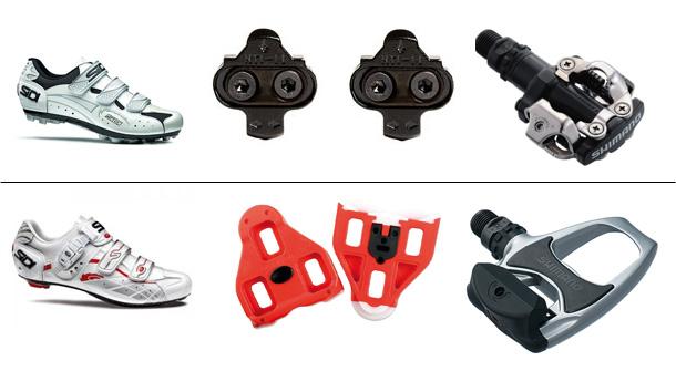 Zapatillas, calas y pedales de carretera y mtb
