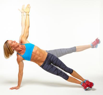 plancha con levantamiento de pierna