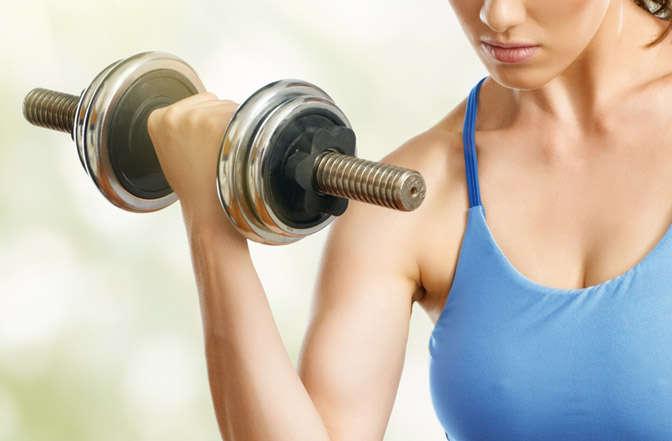 ejercicios bíceps en casa