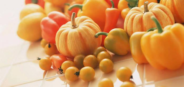 frutas verduras amarillas
