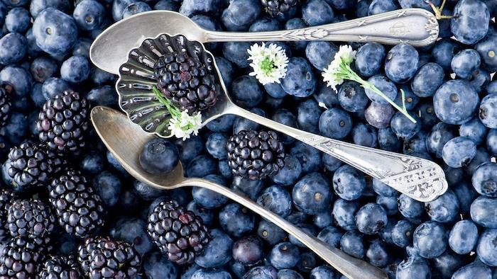 frutas verduras azules