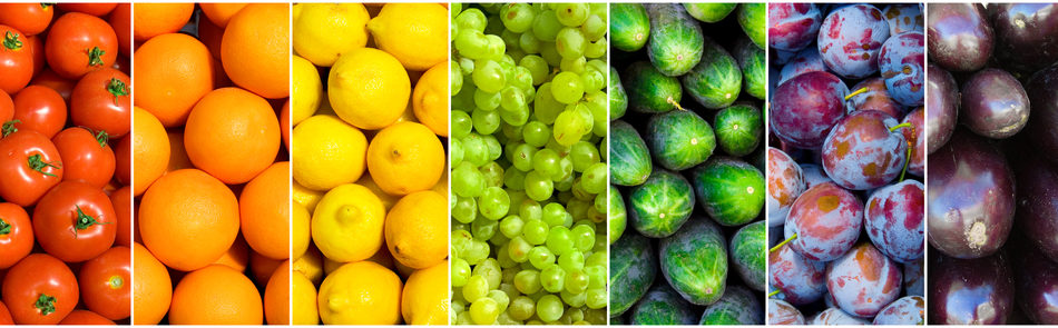 frutas verduras segun color