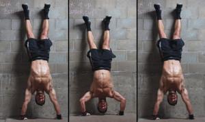 flexiones verticales contra la pared
