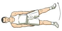 levantamiento piernas de lado