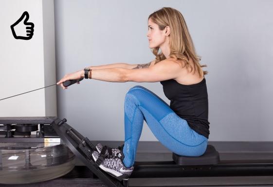ejercicio máquina de remo