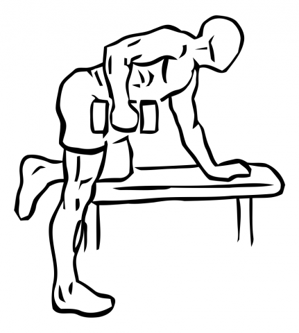 patada de triceps a un brazo