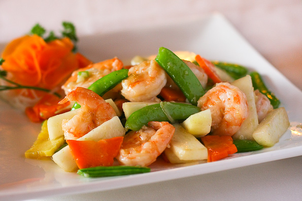 pear shrimp stirfry 41