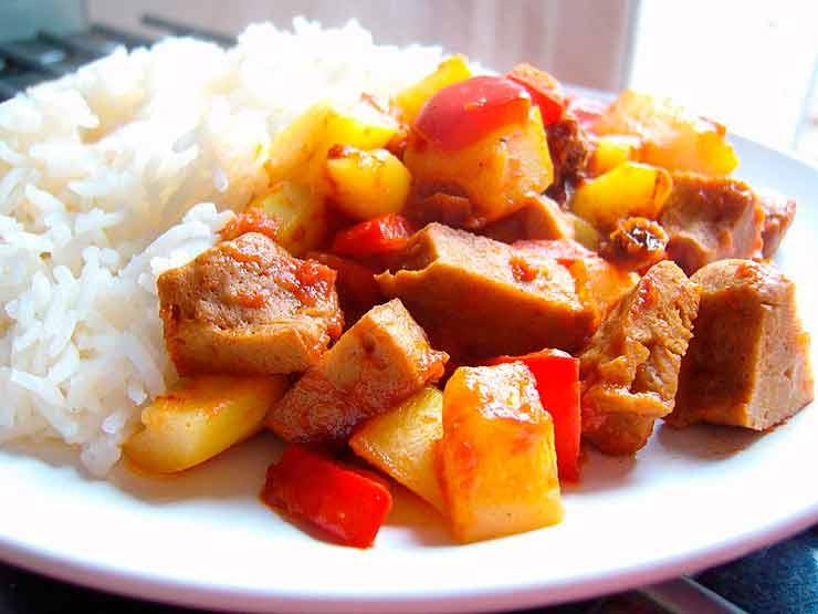 seitan-curry-proteína vegetal