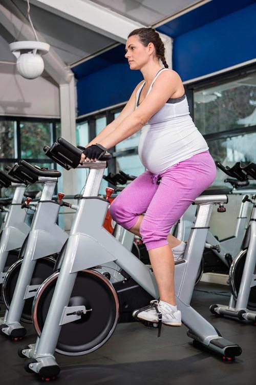 spinning en el embarazo mujer embarazada