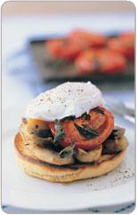 setas tomate y pan integral