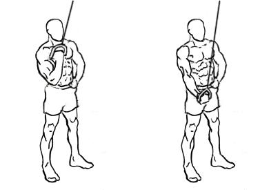 extension triceps una mano polea