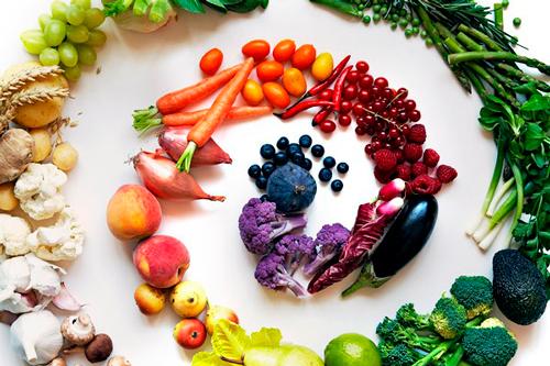 más frutas y más verduras