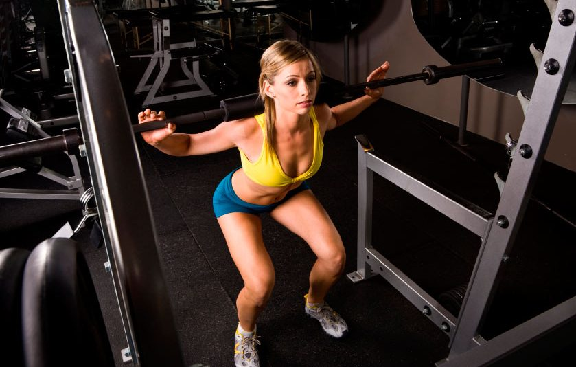 women squatting