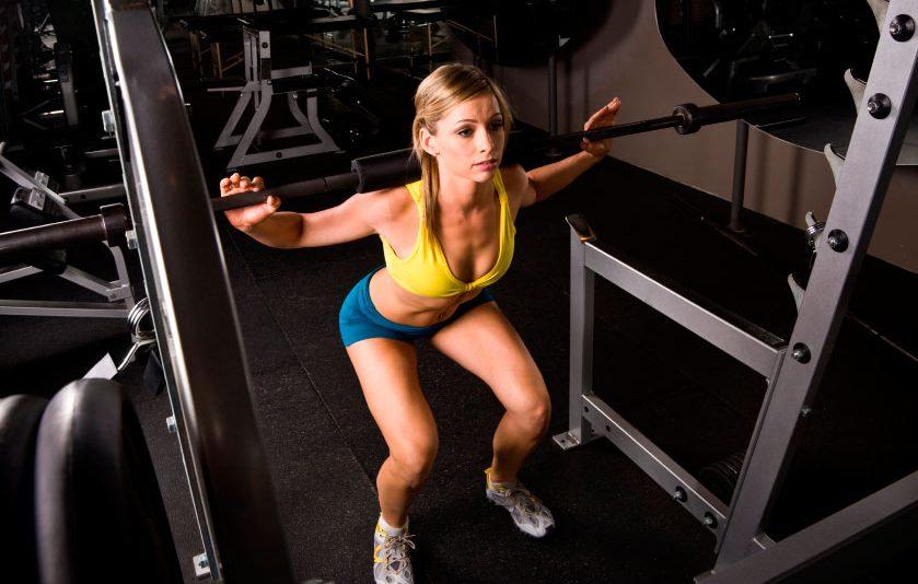 women squatting